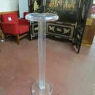 vintage clear lucite pedestal – $250