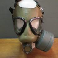 vintage WWII assault gas mask – $225