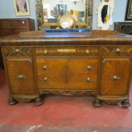 amazing inlaid buffet with original bakelite pulls – $450