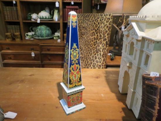 Versace Rosenthal Le Roi Soleil porcelain obelisk – $350