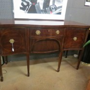 vintage antique mahogany Hepplewhite style sideboard – $895