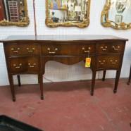 SALE! Vintage antique Hepplewhite style solid mahogany buffet – $650 originally $895
