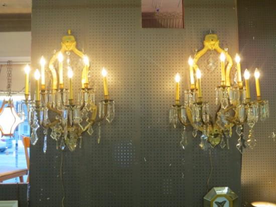 vintage antique pair of Victorian monumental sconces – $2100 for the pair
