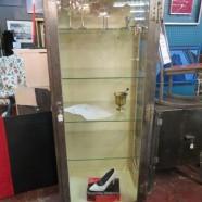 SALE! Vintage mid-century modern industrial medial rolling case – $1500