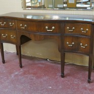 Vintage antique Hepplewhite style solid mahogany buffet – $895
