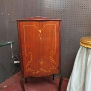 Vintage antique Louis XV style music cabinet with inlay – $295