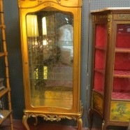 Vintage antique gilt French Louis XV style vitrine/display case – $995