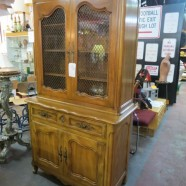 SALE! Vintage antique John Widdicomb country french china cabinet – $395