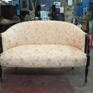 Vintage antique Hepplewhite style mahogany settee – $250