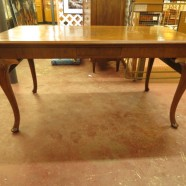 Vintage antique drop leaf dining/console table – $495