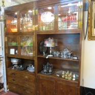 Vintage mid-century modern pair of Henredon display cabinets – $595 each