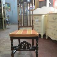 Vintage antique Renaissance Revival carved walnut chair – $175