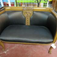 Vintage antique Victorian mahogany settee – $895