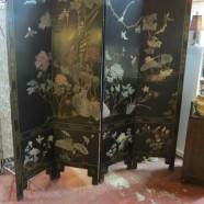 Vintage 4 panel Chinese hardstone screen – $995