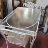 SALE! Vintage mid-century cute wrought iron 3 piece dining set – $150