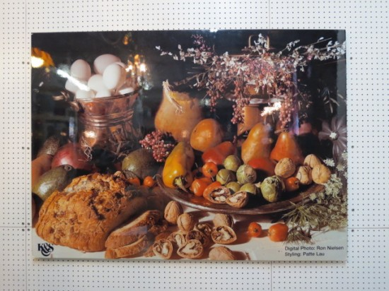 SALE! Vintage large format harvest feast photograph – $195
