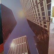 Vintage large format photograph of Chicago skyscrapers – $395