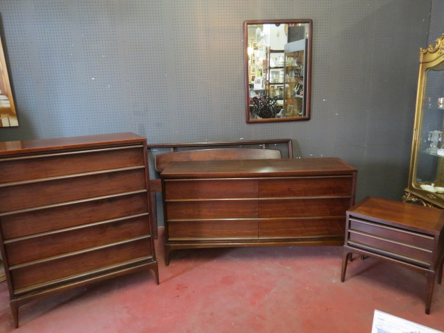 vintage mid century modern lane 5 piece bedroom set 1295