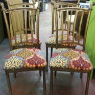 Vintage mid-century set of 4 dining chairs – $295
