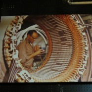 Vintage large format photograph of man working w/ cylinder – $295