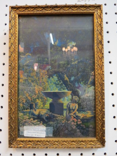 Vintage Maxfield Parrish framed orig. cropped calendar 'Reveries' – $395