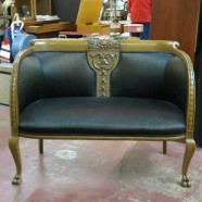 SALE! Vintage antique carved mahogany Victorian settee Loveseat
