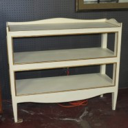 Vintage painted wood 3-tier Etagere with gilt trim – $395