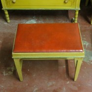 Vintage Antique shabby-chic hand painted Bench – $95