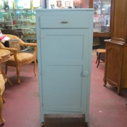 Vintage Antique blue painted cabinet – $125
