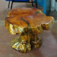 Vintage mid-century modern California Redwood coffee table – $395