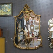 Vintage antique French style ornate carved gilt mirror – $895