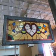 Vintage antique multicolor Stained Glass Window – $395
