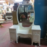 Vintage antique white painted Vanity – $295
