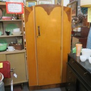 SALE! Vintage Antique Art Deco Armoire – $285