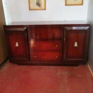 Vintage mid-century 60′s mahogany Credenza – $395