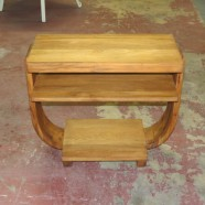 Vintage antique Art Deco side table – $145