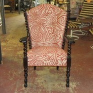 Vintage Antique high back Oak Arm Chair – $445