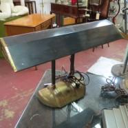Vintage mid-century short black industrial lamp – $195