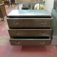 Vintage antique industrial 3 drawer steel dresser – now $395, was $425