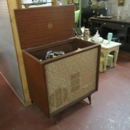 SALE! Vintage mid-century modern Philco stereo in cabinet – now $195, was $250