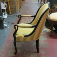 SALE! Vintage antique ebonized swan chair – $500