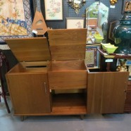 Vintage mid-century modern bar or stereo cabinet – $195