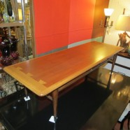 Vintage mid-century modern lane walnut coffee table-$250