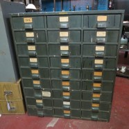 Vintage antique industrial multi drawer steel cabinet – now $295, was $325