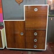 Vintage Danish mid-century modern rosewood chest/cabinet secretary-$1295