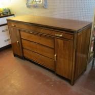 Vintage antique Art Deco walnut credenza/buffet-$590