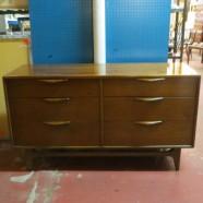 Vintage mid-century modern 6 drawer credenza/dresser-$695