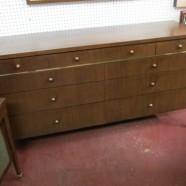 SALE! Vintage mid-century modern walnut and teak credenza/dresser- now $275, was $350