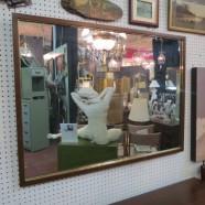 SALE! Vintage mid-century modern walnut and teak mirror- now $50, was $95.