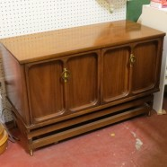 Vintage mid-century modern small console cabinet-$200